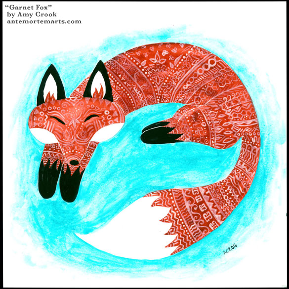 Garnet Fox, original art by Amy Crook