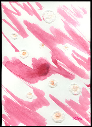 Genuine Pink, abstract art by Amy Crook