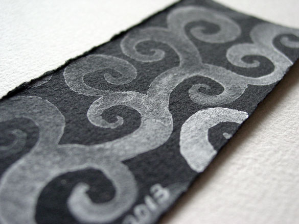 Ghost Spirals Bookmark, detail, by Amy Crook