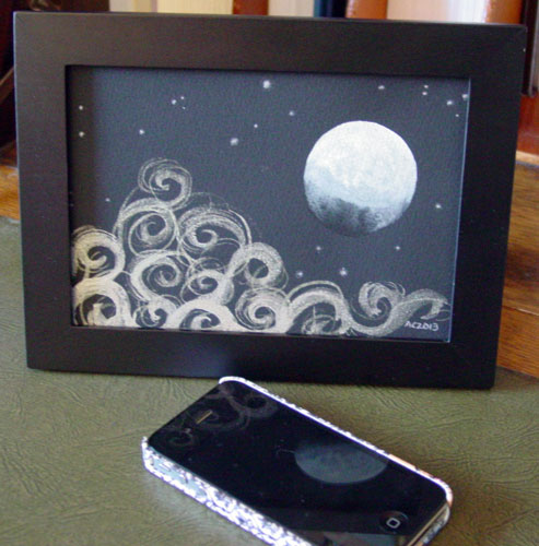 Gibbous Moon, framed art by Amy Crook