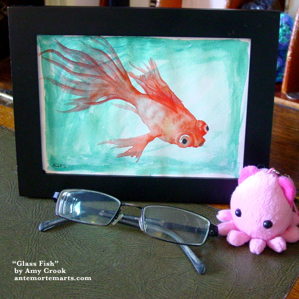 Glass Fish, framed art by Amy Crook