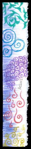 Glitter Sketch Bookmark by Amy Crook
