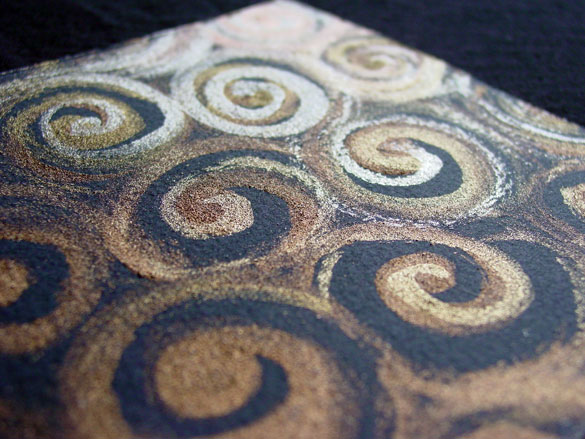 Gold Spirals 2, detail, by Amy Crook