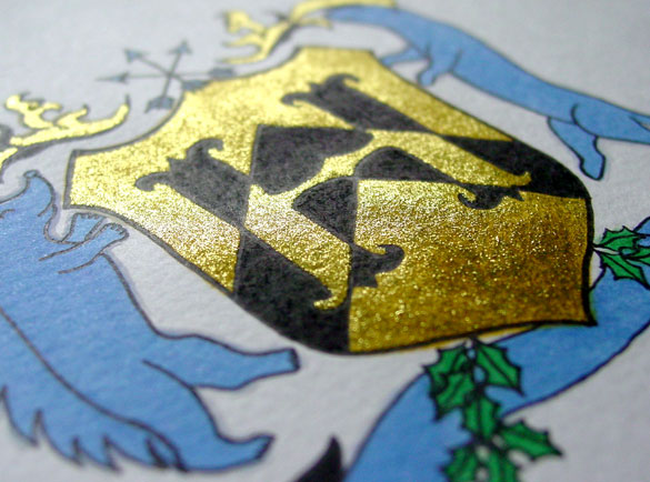 H is for Heraldry, detail, by Amy Crook