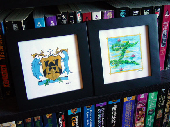 H is for Heraldry &amp; I is for Impressionism, framed art by Amy Crook