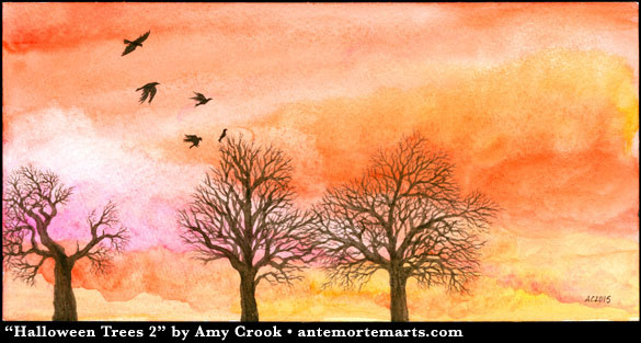 Halloween Trees 2 by Amy Crook