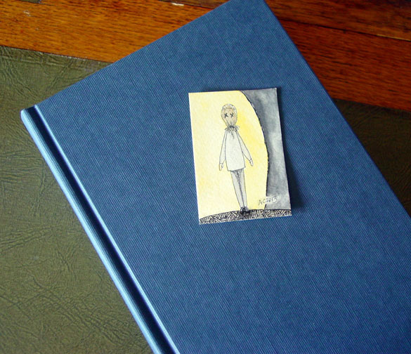 Harvest Bookmark, with book, by Amy Crook