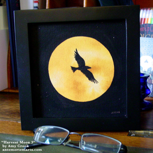 Harvest Moon, framed art by Amy Crook