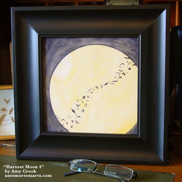 Harvest Moon 4, framed art by Amy Crook