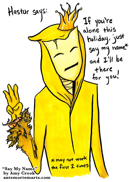 Say My Name, a Hastur parody comic by Amy Crook