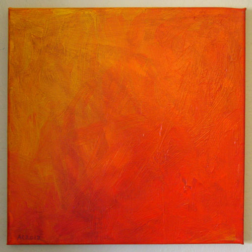 Hellfire, abstract painting by Amy Crook