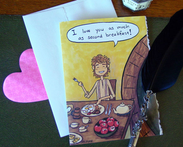 Second Breakfast parody Valentine by Amy Crook