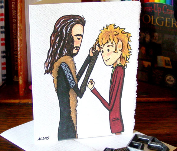 Bead & Braid, a Hobbit Valentine by Amy Crook on Etsy