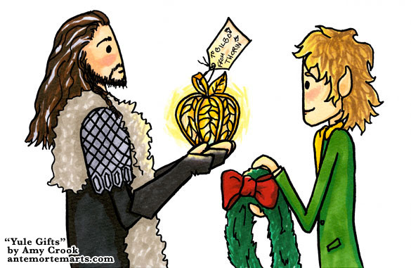Yule Gifts, a Hobbit parody comic by Amy Crook