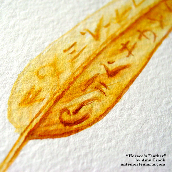 Horace's Feather, detail, by Amy Crook