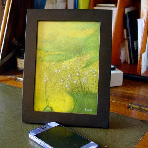 Horton's Field, framed art by Amy Crook
