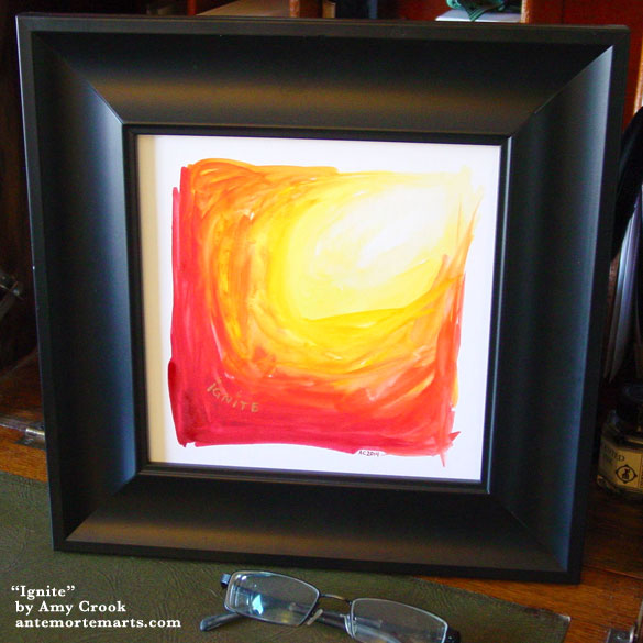 Ignite, framed art by Amy Crook