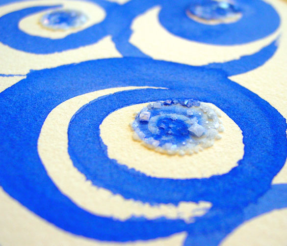 In the Spiraling Blue, detail 2, by Amy Crook