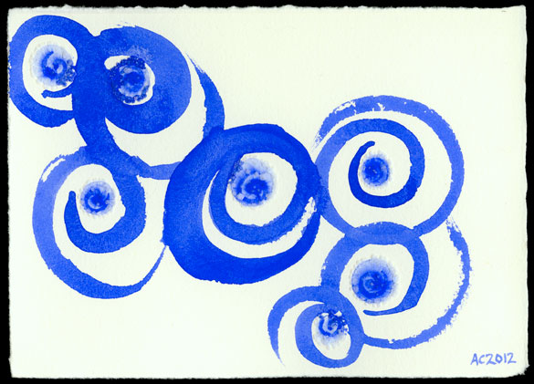In the Spiraling Blue, abstract art by Amy Crook
