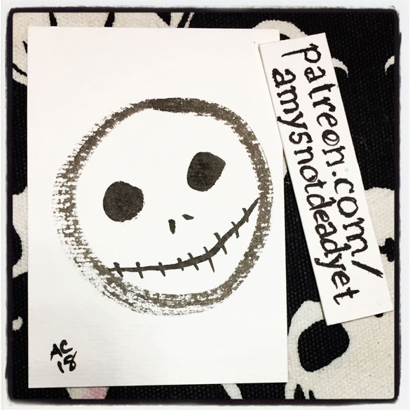 zen circle Jack Skellington face