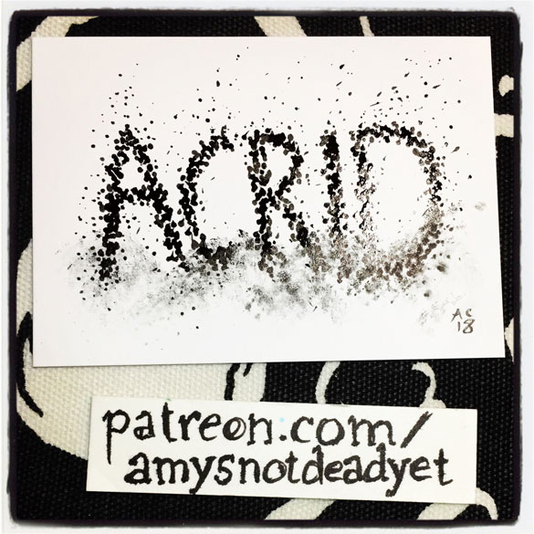 pen and ink word art: Acrid