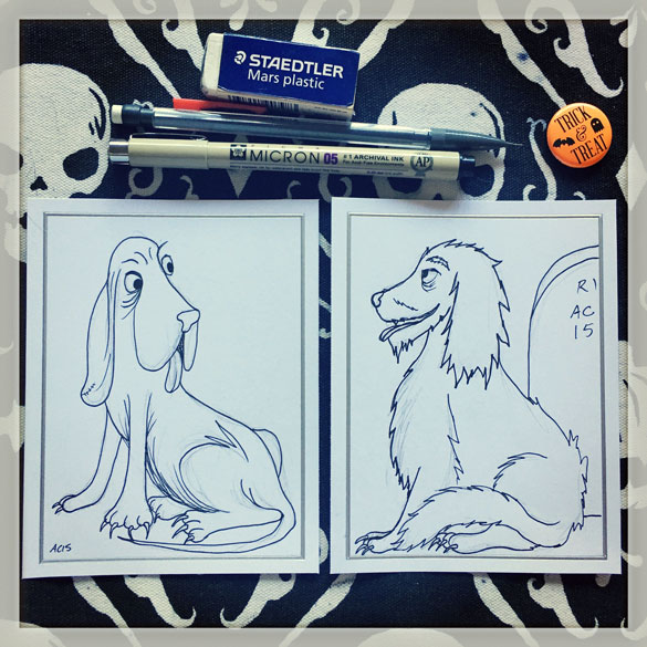 Day 11 - Snuff gets a Graveyard Dog friend