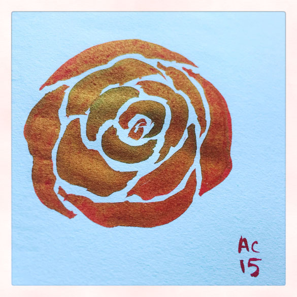 Day 12 - quick rose sketch