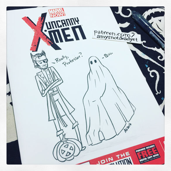 Inktober day 18: X-Men comic cover for Dami (and also a silly local cover contest)