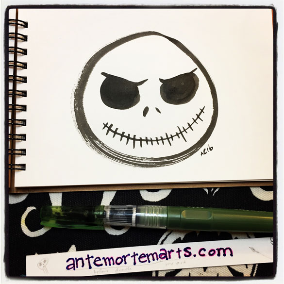 Inktober day 5: Zen circle Jack Skellington