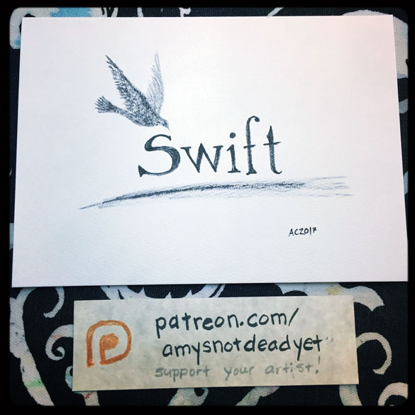 Inktober day 1: Swift
