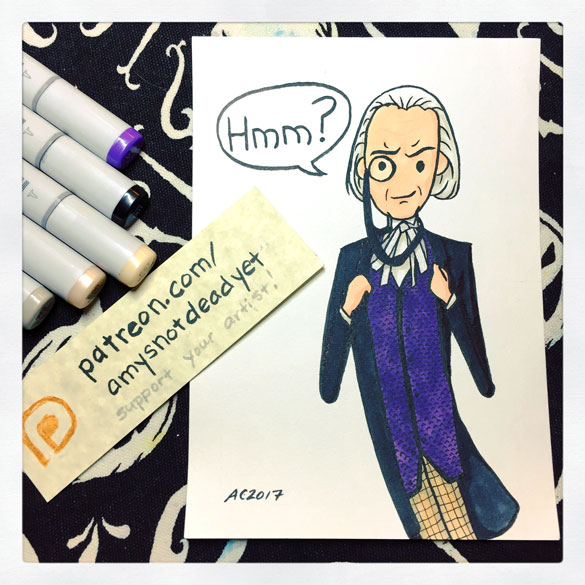 Inktober day 15: Hmm? First Doctor for Ian