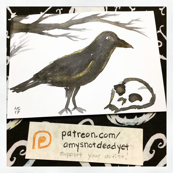 Inktober day 28: Spoopy Crow