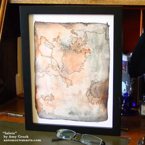 Inlets, framed art by Amy Crook