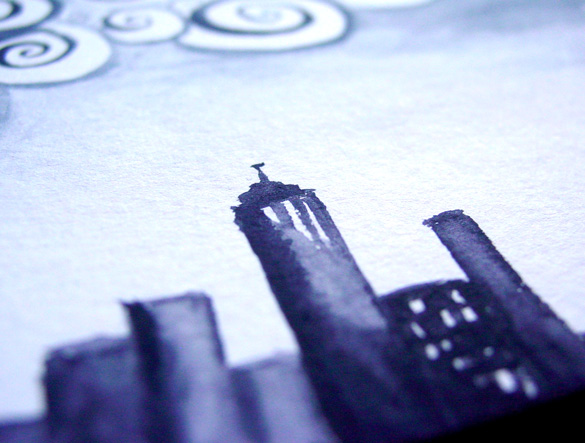 Insomnia City, detail, by Amy Crook