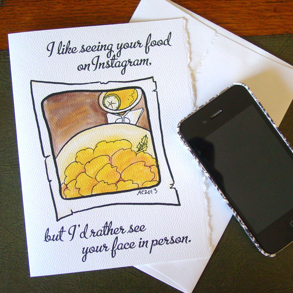 Instagram Food greeting card by Amy Crook