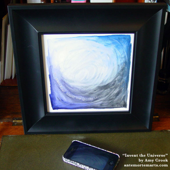 Invent the Universe, framed art by Amy Crook