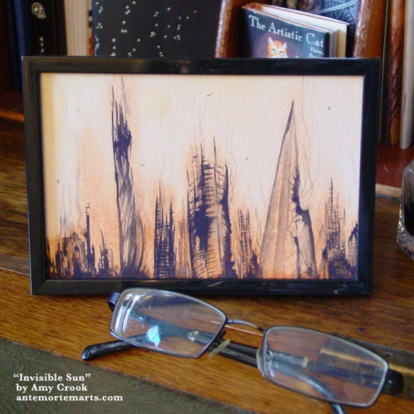 Invisible Sun, framed art by Amy Crook