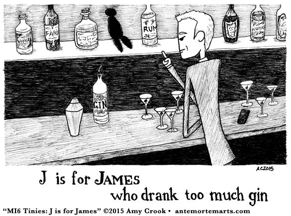 MI6 Tinies: J is for James by Amy Crook