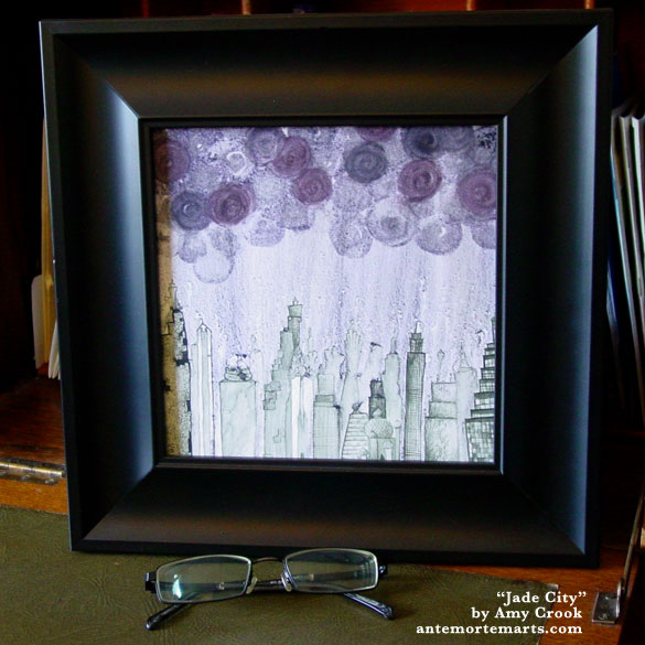 Jade City, framed art by Amy Crook