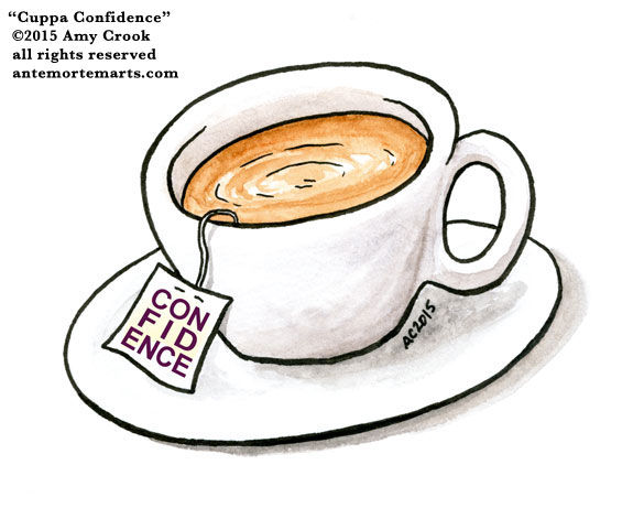 Cuppa Confidence, commission by Amy Crook for Jo Van Every
