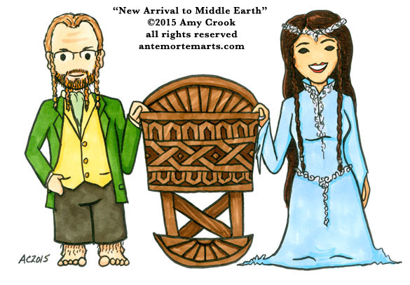 New Arrival to Middle Earth by Amy Crook