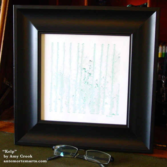 Kelp, framed art by Amy Crook