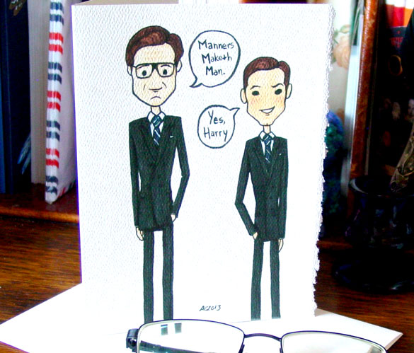 Manners Maketh Man greeting card by Amy Crook on Etsy