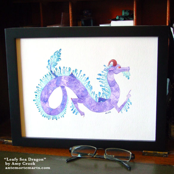 Leafy Sea Dragon, framed art by Amy Crook
