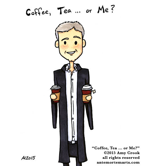 Coffee, Tea... or Me? fan art by Amy Crook