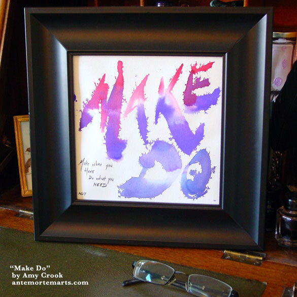 Make Do, framed art by Amy Crook