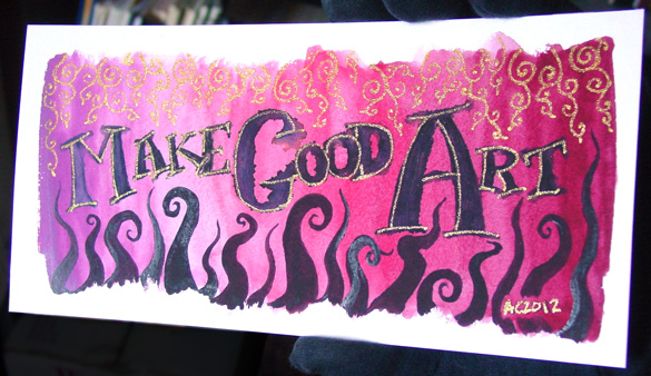 Make Good Art, detail 1, by Amy Crook
