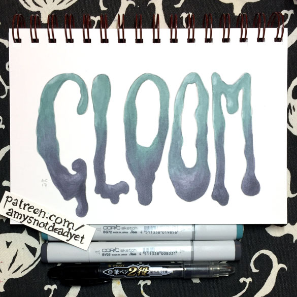 Gloom word art by Amy Crook