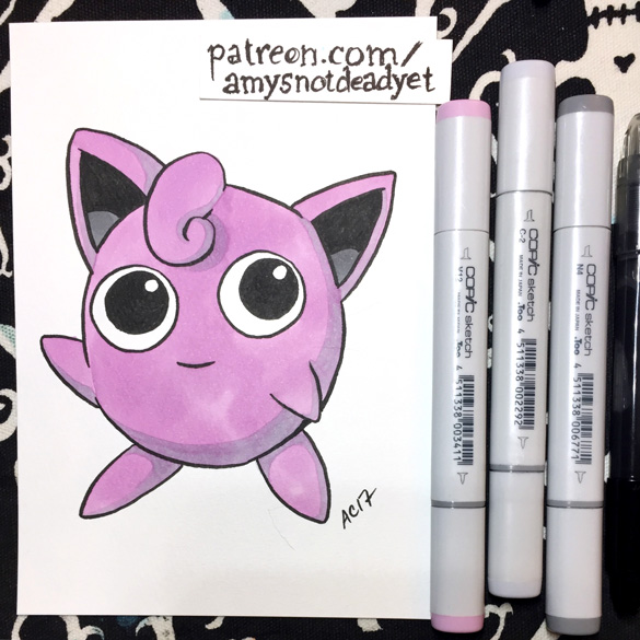 Jigglypuff by Amy Crook