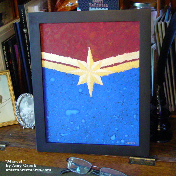 Marvel, framed art by Amy Crook
